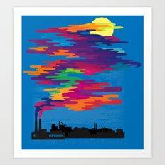 Hidden in the Smog (day) Art Print