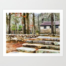 Cheaha State Park in The Fall Art Print