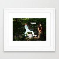 wooden Framed Art Prints featuring wooden by Dan Brennan