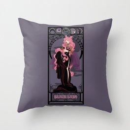 Black Lady Nouveau - Sailor Moon Throw Pillow
