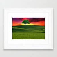 one tree hill Framed Art Prints featuring One Tree Hill by gypsykissphotography