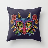 majora Throw Pillows featuring El Dia de la Majora by Marco Mottura - Mdk7
