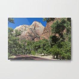 Image Grand Canyon Park USA Arizona Nature Mountains park Roads Trees mountain Parks Metal Print