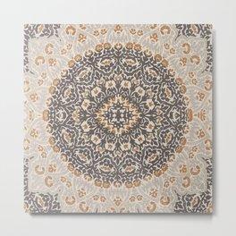 N127 - Oriental Vintage Traditional Floral Moroccan Mandala Artwork. Metal Print