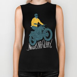no guts no glory Biker Tank