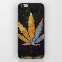 cannabis iPhone & iPod Skins featuring Cannabis by Michael Creese