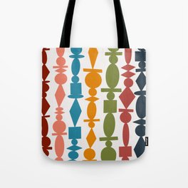 Colorful Wooden Beads Illustration Tote Bag