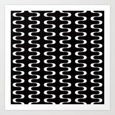 Geometric Pattern #173 (waves) Art Print