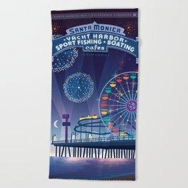 Santa Monica Pier California Beach Towel