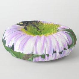 Bee on a daisy Floor Pillow