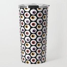 Pixel Eyeballs Travel Mug