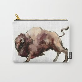 Bison, animal animals, bison artwork, bull Carry-All Pouch
