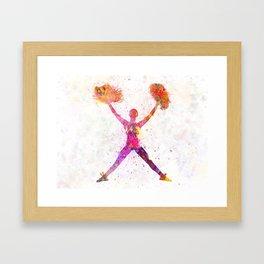 young woman cheerleader 02 Framed Art Print