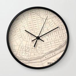 Vintage Map of New Brunswick NJ (1837) Wall Clock