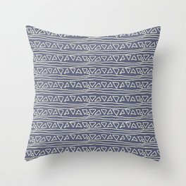 Blue Scribbles Pattern 03 Throw Pillow