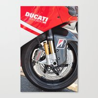ducati Canvas Prints featuring Ducati by the_continuum