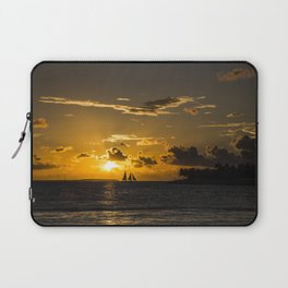 Sunset over the ocean Laptop Sleeve