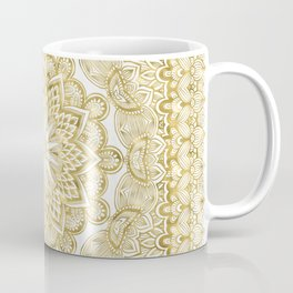Orient Espresso Pattern Mandala Gold Coffee Mug