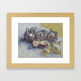 Red Cabbages and Onions Framed Art Print