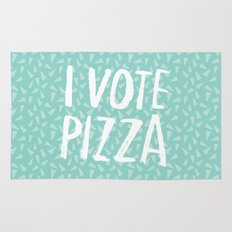 I Vote Pizza  Rug