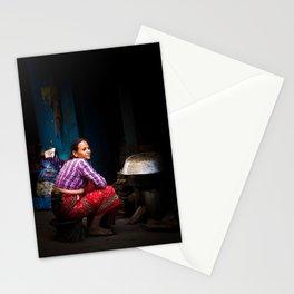 Cooking, Kathmandu, Nepal Stationery Cards