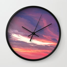 Sunset on the St George River 4 Wall Clock