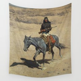 "Frederic Remington Western Art ""Apache Scout"" Wall Tapestry"