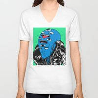 snl V-neck T-shirts featuring Saturday Night Nightmare by Late Nite Draw