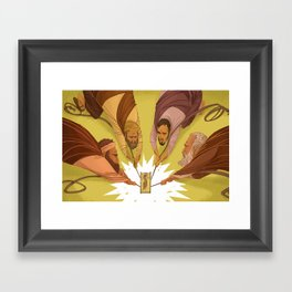 Dropped through the Ceiling (by Ward Jenkins) Framed Art Print