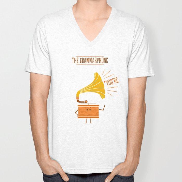 Grammarphone Unisex V-Neck