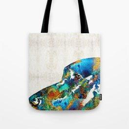 Colorful Dog Art - Loving Eyes - By Sharon Cummings Tote Bag