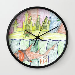 Hermit Crab's Castle Wall Clock