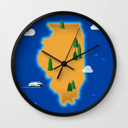 Illinois Island Wall Clock