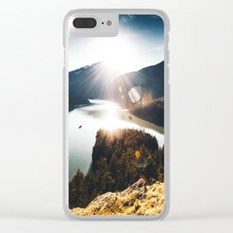 lake at washington state Clear iPhone Case