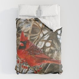 Winter Cardinal by Teresa Thompson Comforters