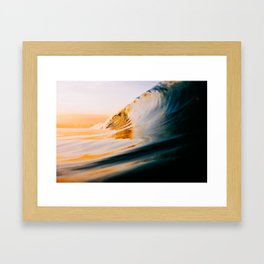 Golden Wave (Film) Framed Art Print