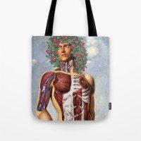 apollo Tote Bags featuring Apollo by DIVIDUS