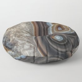 Mocha swirl Agate Floor Pillow