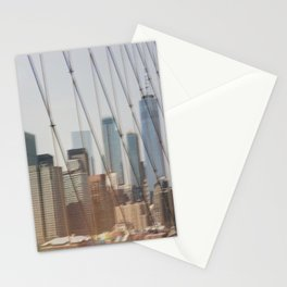 New York from Brooklyn Bridge Stationery Cards