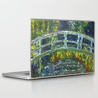 monet Laptop & iPad Skins featuring Monet Interpretation by Britt Miller Art