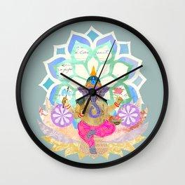 Lord Ganesh in Lotus throne Wall Clock