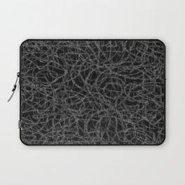 Black and white scribbled lines pattern Laptop Sleeve