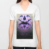 bones V-neck T-shirts featuring BONES by kikkerART