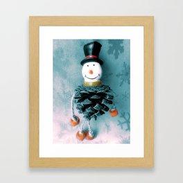 Jolly Old Snowman Framed Art Print