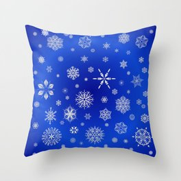Snow in the Winter Night Throw Pillow