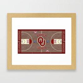Oklahoma #Sooner #FinalFour design. Framed Art Print