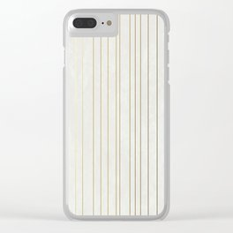 Golden Stripe Clear iPhone Case