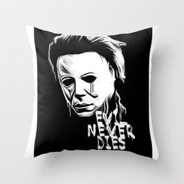 Evil Never Dies Throw Pillow