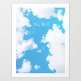 You Are Unlimited | Sky Art Print