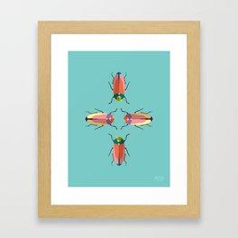 Happy beetles Framed Art Print